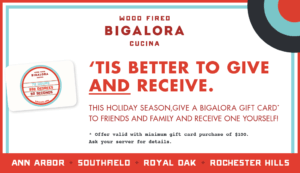 Bigalora Holiday Gift Card Promotion